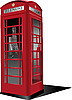 Vector clipart: London red public phone box
