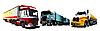 Vector clipart: Colored trucks