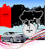 Cover for brochure with cars. colored | Stock Illustration