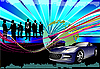 Vector clipart: World business background with Earth and cars