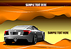 Vector clipart: Abstract hi-tech background. Desert with car
