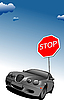 Vector clipart: Stop sign. Traffic road sign symbol