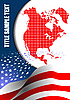 Vector clipart: Cover for brochure with USA and American flag