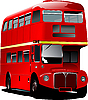 Vector clipart: red London double Decker bus