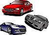 Vector clipart: Three cars. Sedan.