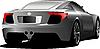 Vector clipart: Car sedan on the road