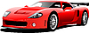 Vector clipart: Red sport car on the road