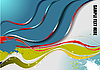 Vector clipart: Abstract wave background