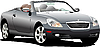 Vector clipart: Grey car cabriolrt on the road