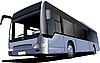 Векторный клипарт: Синий автобус туристический.