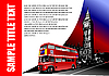 Vector clipart: Cover for brochure with London