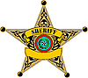 Vector clipart: Texas sheriff badge