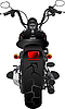 Vector clipart: Motorcycle rear view