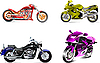 Vector clipart: Four motorcycles