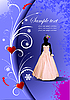 Vector clipart: Wedding card background