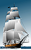 Vector clipart: old sailing vessel