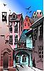 Vector clipart: Medieval European city