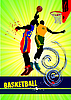 Vector clipart: Basketball poster.