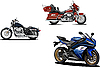 Vector clipart: Three s of motorcycle