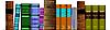 Vector clipart: bookshelf library
