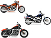 Vector clipart: Three motorcycle