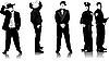Vector clipart: Business people silhouettes