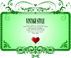 Vector clipart: Vintage frame style