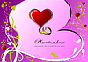 Vector clipart: Valentine`s Day; Greeting Card