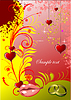 Vector clipart: Decorative Valentine`s Day greeting card