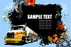 Vector clipart: Grunge abstract hi-tech background