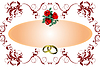 Vector clipart: Wedding or Valentine`s day card
