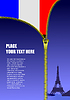 Reißverschluss zu öffnen Frankreich Flagge