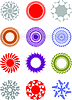 Vector clipart: decorative elements for designers