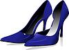 Векторный клипарт: Мода женщина синие ботинки.