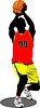 Векторный клипарт: Баскетболист.