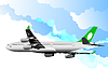 Vector clipart: Passenger Airplanes