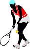 Векторный клипарт: теннисистка