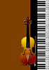 Vector clipart: Piano with violin
