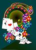 Vector clipart: Casino elements. Roulette