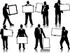 Vector clipart: businessman silhouettes
