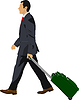 Vector clipart: Business man with suitcase.