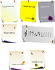 Set of note pages | 向量插图