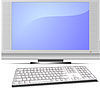 Vector clipart: Display and keyboard