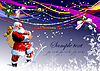 Vector clipart: Greeting card for Christmas