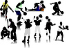 Vector clipart: People sport silhouettes