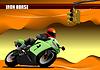 Векторный клипарт: Пустыня с мотоциклом