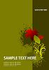 Векторный клипарт: Обложка для брошюры с осени красный лист
