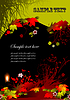 Vector clipart: Halloween grunge background,