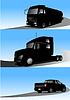 Vector clipart: trucks
