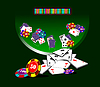 Vector clipart: Blackjack table and casino elements
